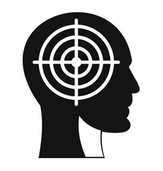 crosshair in human head icon simple style vector image vector image