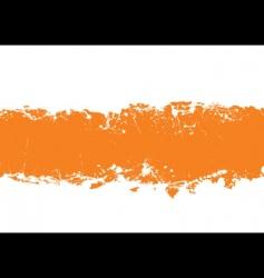 grunge strip background orange vector image vector image