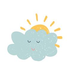 hand drawn cloud vector image vector image