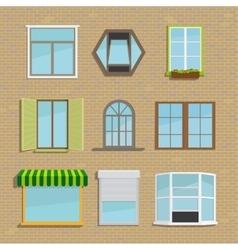 Set of icons different types windows vector image vector image