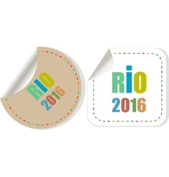 Sign symbol Rio olympics games 2016 in colors of vector image