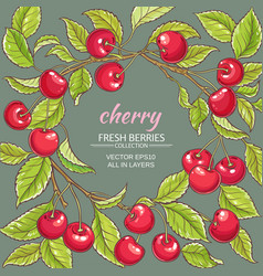 cherry frame vector image