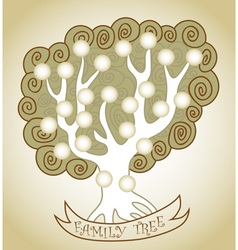 Family tree curly vector