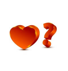 heart and question mark vector image