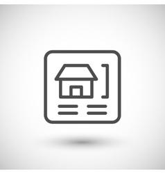 House scheme line icon vector image