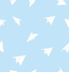 paper airplane seamless pattern vector image vector image