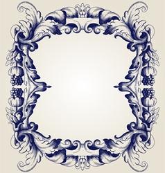 retro frame vector image vector image
