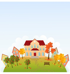 School time town vector image
