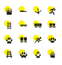 16 track icons vector image