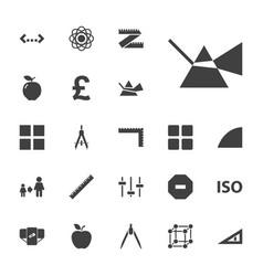 22 geometric icons vector