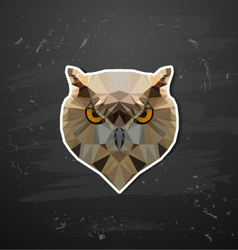 abstract triangle polygonal owl vector image