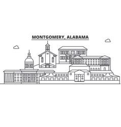 alabama montgomery architecture line skyline vector image