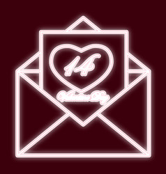an envelope 14 feb vector image