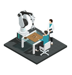 Artificial intelligence isometric composition vector