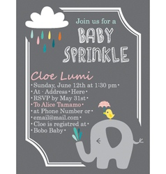 Baby-Shower Elephant vector image