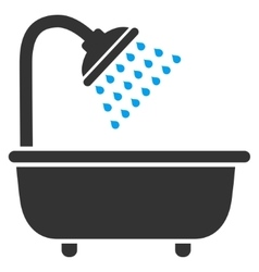 Bath Shower Flat Icon vector image