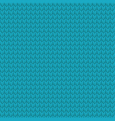 blue realistic seamless knit pattern eps 10 vector image