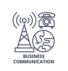 business communication line icon concept business vector image