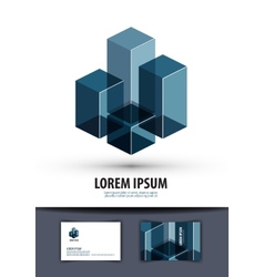business logo sign icon emblem template business vector image