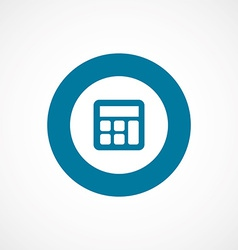 calculator bold blue border circle icon vector image