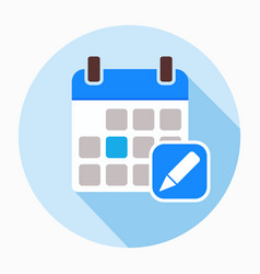 calendar and pencil icon vector image