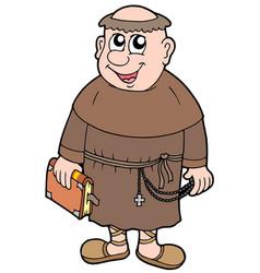 Cartoon monk vector
