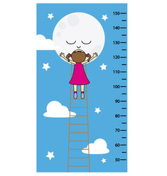 Child wall meter vector