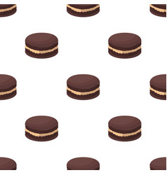chocolate biscuit icon in cartoon style isolated vector image