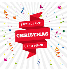 christmas special offer upto 50 off vector image