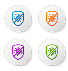 Color stop virus bacteria germs and microbe icon vector