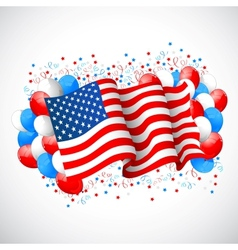 Colorful Balloon with American flag vector image