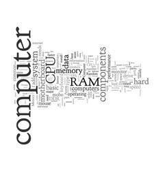 Computer components for idiots vector