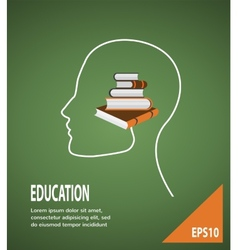 Concept of modern education infographic vector