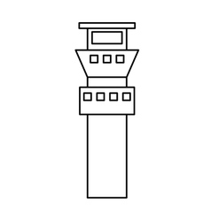 control tower building icon vector image