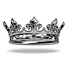 Crown black and white king queen 77 vector