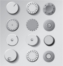 Dials and knobs vector