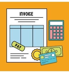 document bills card invoice payment icon vector image
