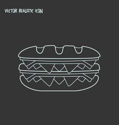 double sandwich icon line element vector image