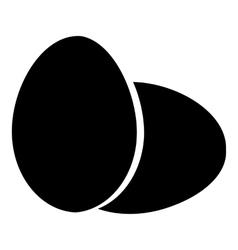 Eggs icon simple style vector