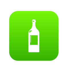 empty bottle icon simple black style vector image