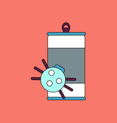 Flat icon design collection canned and spider vector
