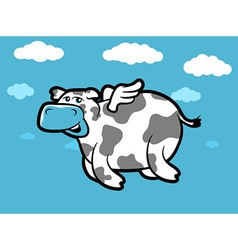 Flying Cow vector