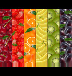 Fruity rainbow background vector