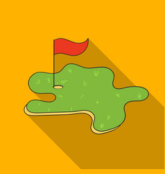 golf course icon in flat style isolated on white vector image