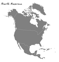 high quality map north america vector image