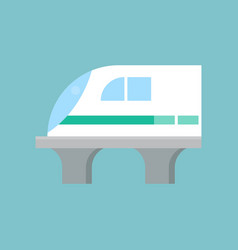 High speed train vector