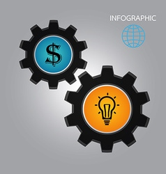 infographics idea money vector image
