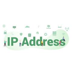Ip address internet protocol concept with big vector