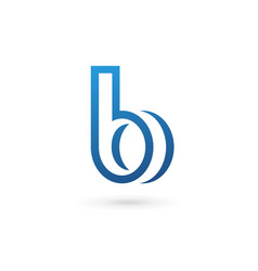 letter b logo icon design template elements vector image vector image