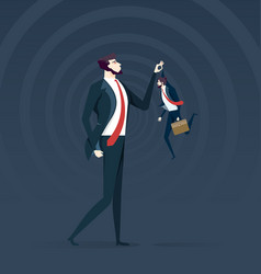 little and big business confrontation metaphor vector image